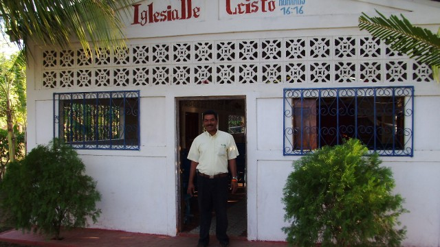 Pastor Algenor of the Church in Chacraseca